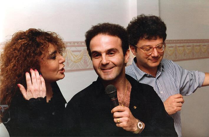 Loredana Bertè, Felix Cossolo e Paolo Hutter.