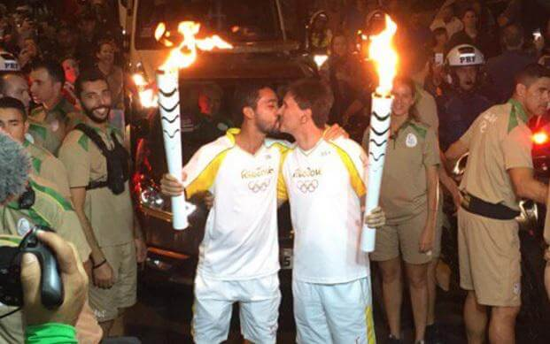 olympic torch gay kiss-2