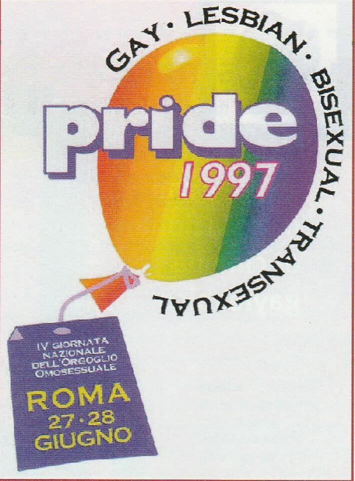 Logo del GLBT Pride di Roma del 1997.
