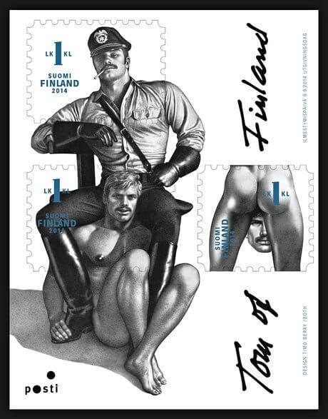 Nel 2014 la Finlandia emette una serie di francobolli dedicata a Tom of Finland, uno dei più importanti illustratori omoerotici del XXesimo secolo.