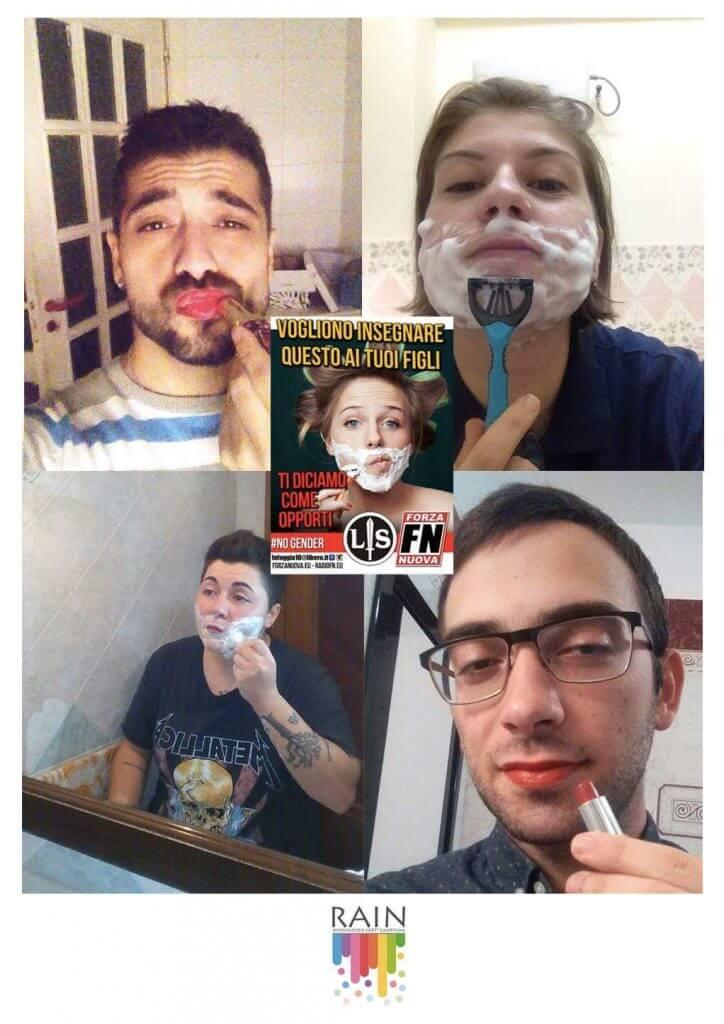 Contro le provocazioni di Forza Nuova parte #MaQualeGender, campagna per la liberazione dagli stereotipi