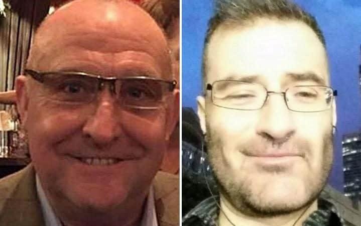 A sinistra la vittima, Gordon Semple. A destra Stefano Brizzi, l'italiano accusato di averlo ucciso.