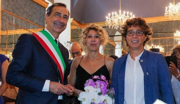 unione civile coppia lesbica beppe sala milano