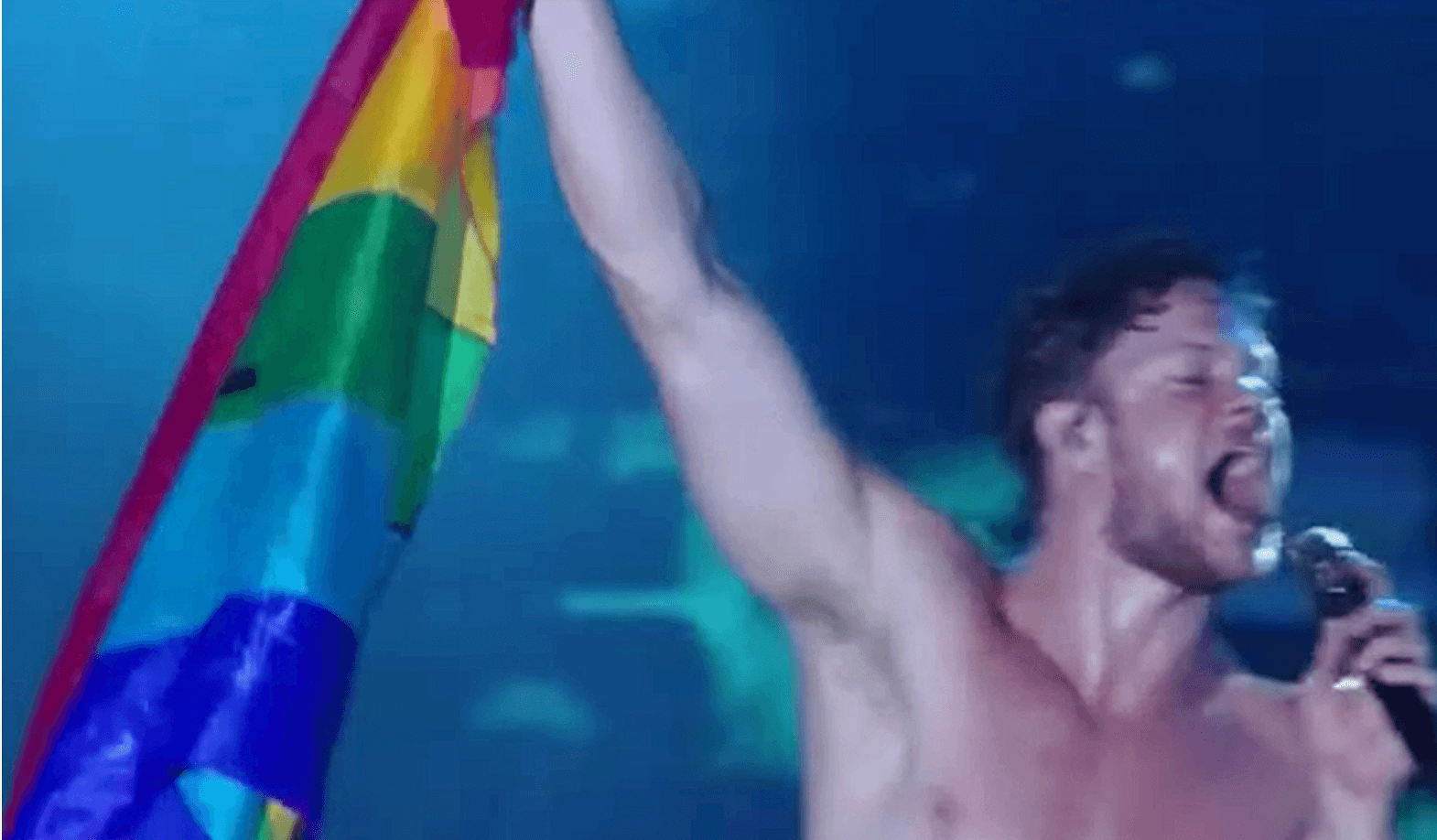 imagine dragons dan reynolds rainbow flag