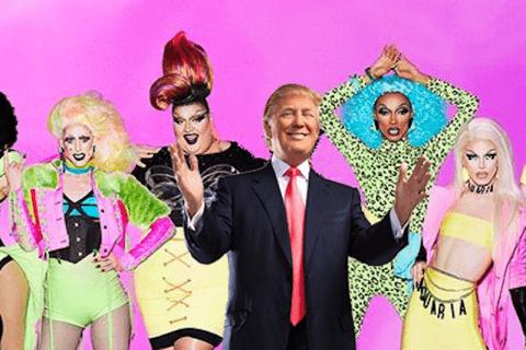 donald trump drag queen