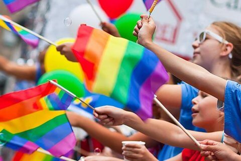 rainbow bandiere gay arcobaleno