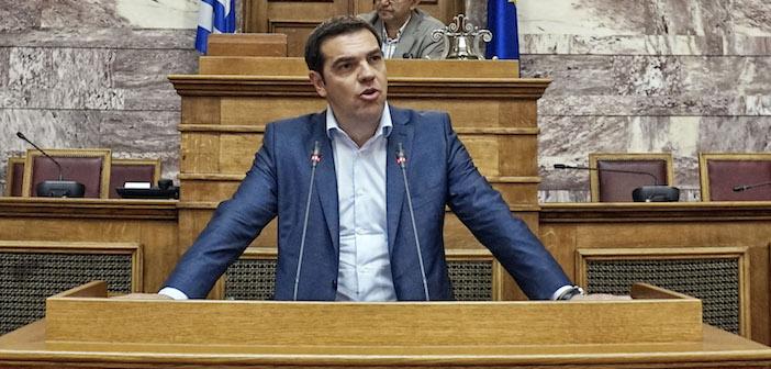 premier Alexis Tsipras parlamento greco
