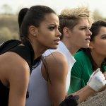 Ella Balinska,Kristen Stewart e Naomi Scott in Charlie's Angels 2019