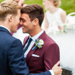 Tom Daley al suo matrimonio con Dustin Lance