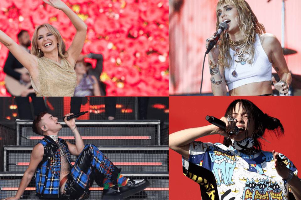 Kylie Minogue, Years and Years, Miley Cyrus, Billie Eilish alGlastonbury 2019