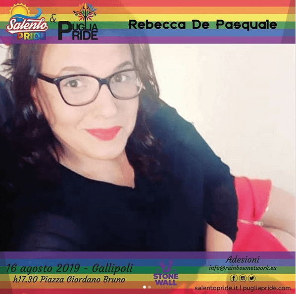 Rebecca de Pasquale ospite Salento Pride 2019