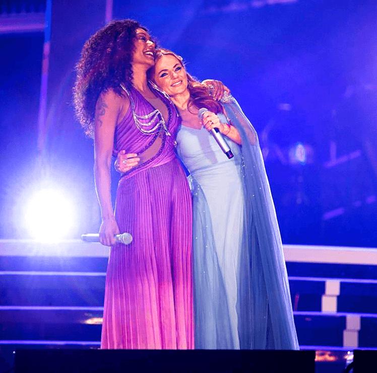 Geri Halliwell e Mel B nello Spiceworld 2019