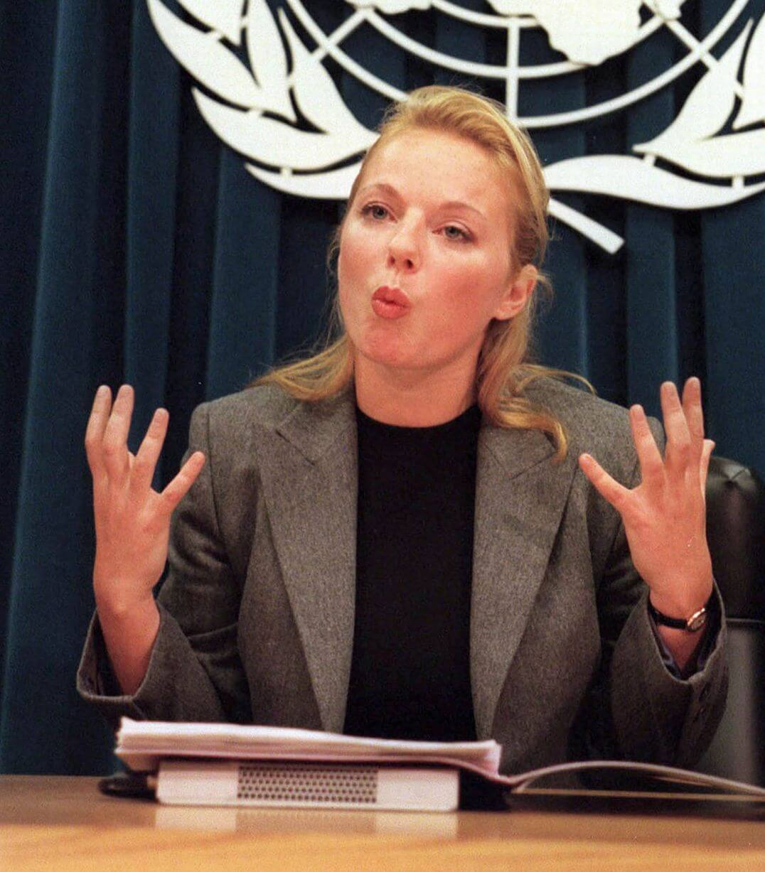 Geri Halliwell ambasciatrice Nazioni Unite nel 1998
