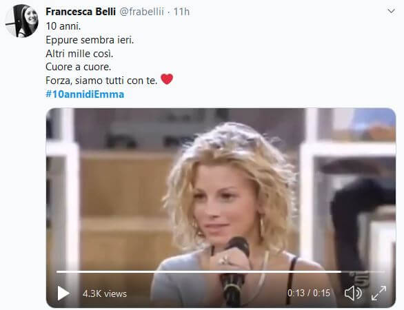 10 anni di Emma Marrone: i tweets celebratori e di supporto dei fans
