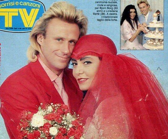 Matrimonio Björn Borg e Loredana Bertè