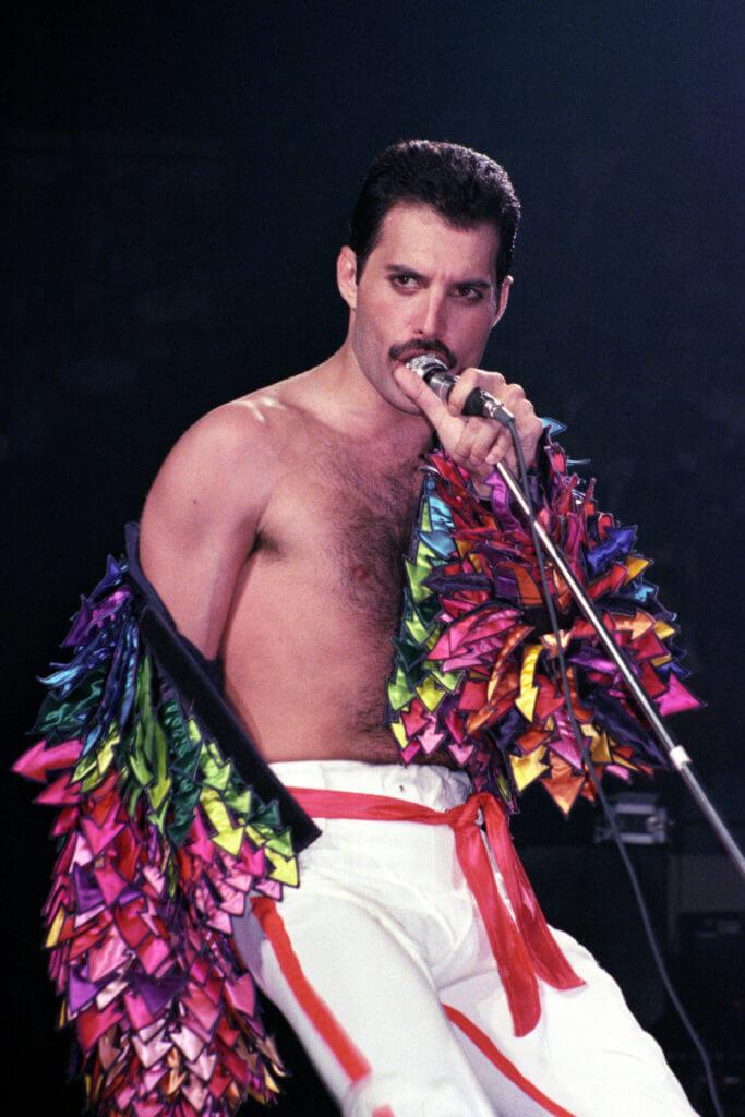 Freddie Mercury giacca rainbow