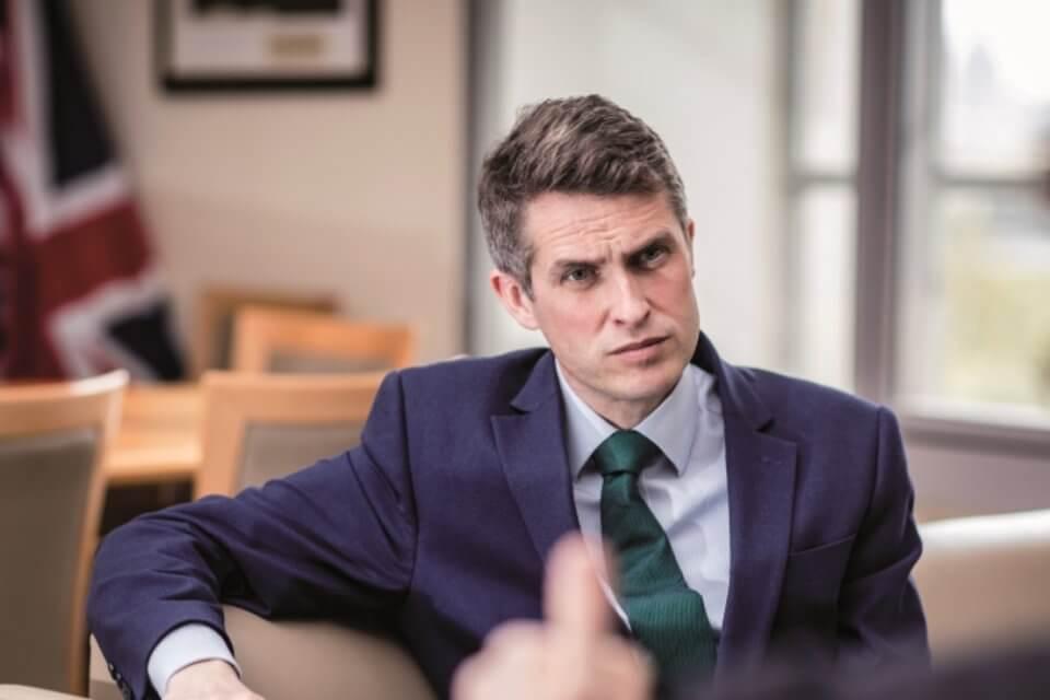 Segretario all'Istruzione del Regno Unito Gavin Williamson