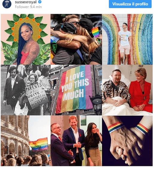 Post instagram del Principe Harry e Meghan Markle