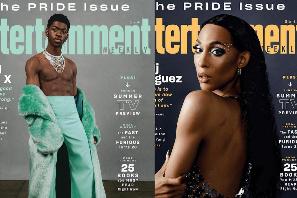 Entertainment Weekly, le cover dell'edizione Pride Issue celebrano Lil Nas X e Mj Rodriguez (Entertainment Weekly le cover della Pride Issue)