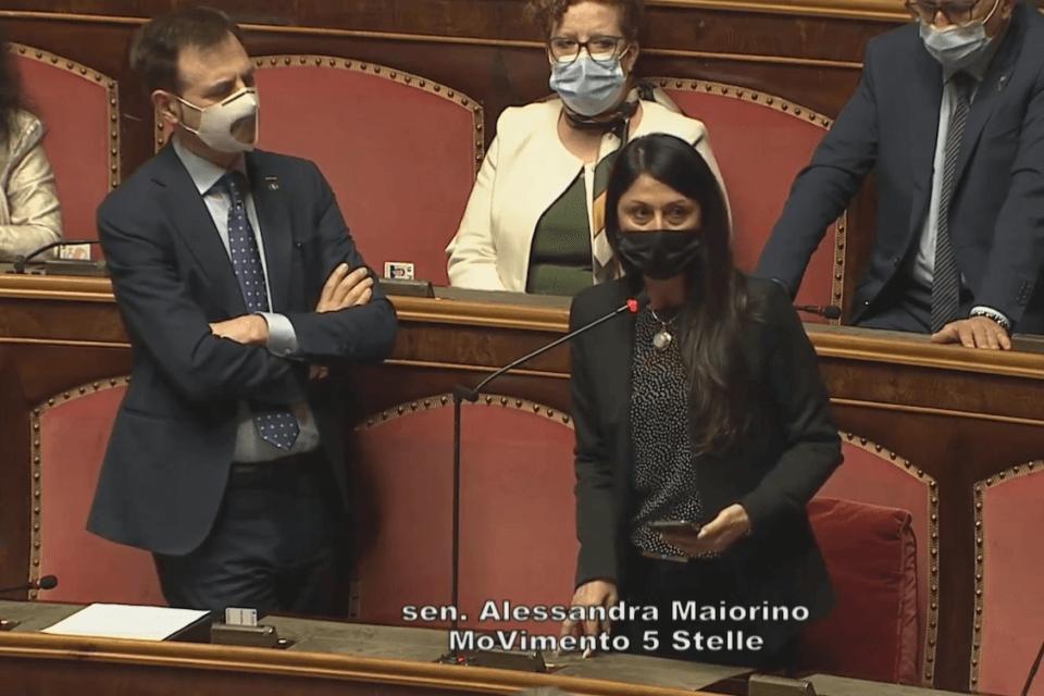 Alessandra Maiorino (M5S) legge le aggressioni omotransfobiche in Senato - video (Maiorino M5S)