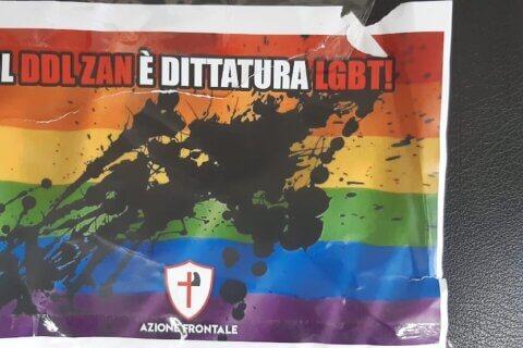 Mario Mieli, atto intimidatorio di Azione Frontale contro il circolo di cultura omosessuale (Mario Mieli atto intimidatorio di Azione Frontale)