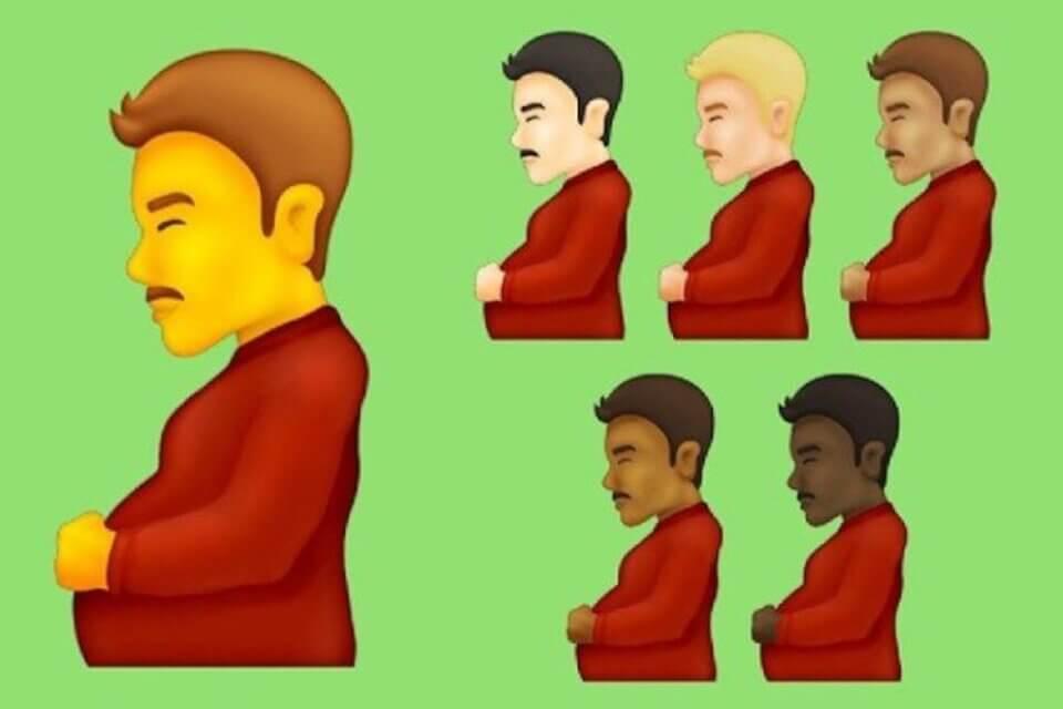 Emoji 2021, tra le novità c'è l'uomo FtoM incinto (Emoji uomo incinto)